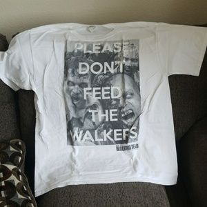 The Walking Dead (Don't Feed The Walkers) Mens LG